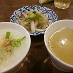 69706476 - ジョークお粥、ヤムウンセン春雨サラダ、スープ