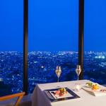 トップ オブ ヨコハマ 鉄板焼&ダイニング - 料理写真:テーブル席より横浜の夜景を