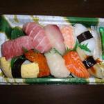 中島水産 - にぎり鮨(富士)799円