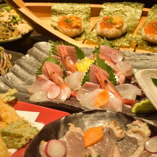 季節の鮮魚と食材を楽しむ会席コース