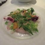カンブーザ - 真鯛のカルパッチョ サラダ仕立て
