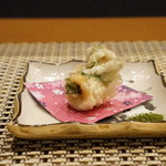 平花とんぼ - キスの天ぷら