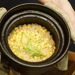 平花とんぼ - もろこし土鍋ご飯