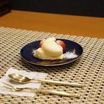 平花とんぼ - さくらんぼと焼きプリン
