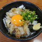 山賊鍋 - ミニイカ丼