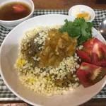 中華 深せん - ラム肉のカレー味炒め飯