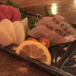 琉球料理といまいゆ しんか/肉バル&ダイニングヤンバルミート - 刺身三点盛り