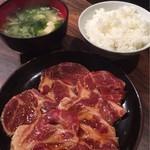 暖団家 - 桃豚ロース・ライス・味噌汁