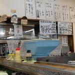 にこにこ寿司 - 天内メニューの一部