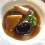 チャイニーズガーデンレストラン 深記 - 茸二種のオイスターソースがけ