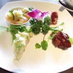 Chainizugadenresutoranshinki - 前菜四種盛り合わせ