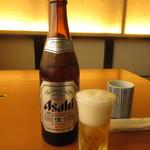 せんなり亭近江肉 橙 - 瓶ビール 590円(税込) (2017.7)