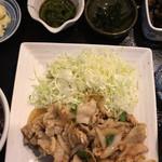 五鉢 - しょうが焼き五鉢定食 ¥880