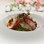 Irukorattsuere - ホタテ甘海老とコチのサラダ
