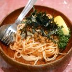 ビストロ スイレン - パスタ タラコ・アサリ・納豆 ¥850
