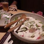 千の庭 - 阿波尾鶏生ハム野菜サラダ