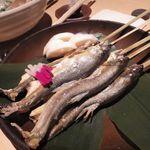 千の庭 - 宝楽焼き 徳島産鮎の塩焼き 酢蓮根