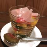 69738927 - いろいろ野菜の出汁ジュレ 生ハム添え(税込650円)