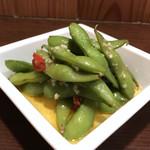 69738928 - 枝豆のペペロンチーノ(税込350円)