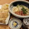 恵比寿山半 - 料理写真:生醤油うどん(とり天トッピング)2017.6.25