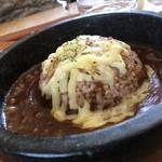 カフェ自休自足 - 石焼きチーズカレー
