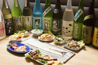 日本酒バー オール・ザット・ジャズ - プレミアム宴会コース(3時間、料理7品食事付き、店主選りすぐりの日本酒を順次ご提供)お一人様6500円