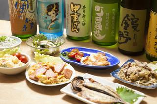 日本酒バー オール・ザット・ジャズ - 月・火曜日限定。女子会コース(料理6品、食事付き、店主厳選日本酒6種飲み放題)お一人様4000円