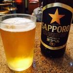 らーめん亭 - ビール小瓶(450円)