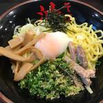 東京油組総本店 - 料理写真:油そば並盛り スペシャルトッピングA