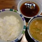 天ぷらの山 - 天かす入りのコクのあるお味噌汁