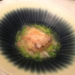 69746971 - 甘鯛の鱗焼き、アスパラソバージュ、ホワイトアスパラガススープ