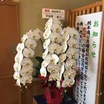 春家秋亭 - 玄関脇の胡蝶蘭