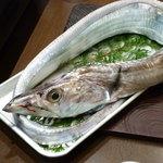 う越貞 - ドラゴン級の太刀魚。五島列島では2月から4月にかけて、脂がのった上物の太刀魚が水揚げされます。