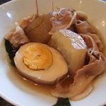 無限堂 - 今週のAランチの大根と豚ばら肉の煮物