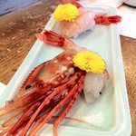 名古屋のすし勘 - 甘くて美味しい海老2種