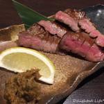 牛タン×焼き鳥×ワイン 鵠 - 厚切り芯タン焼き(1380円税別)