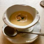 プリムローズ - フレッシュとうもろこしの濃いめの冷製スープ