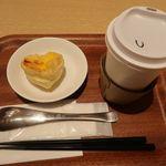 粥茶館 糖朝 - エッグタルトとウーロン茶