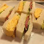 はまの屋パーラー - サンドイッチ ¥620 #たまご・野菜 #8切 2017/07/08(土)15:30頃 訪問