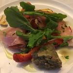 カリーナ - 料理写真:グリル野菜のマリネと生ハム(通常分の半分)