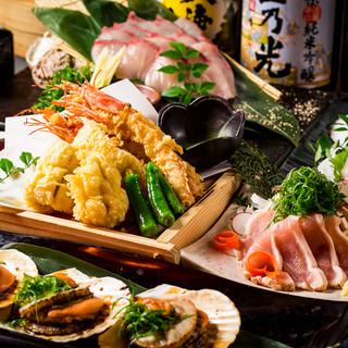 飲み放題付き海鮮料理7品2999円~