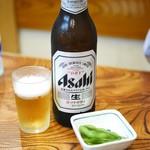 そば処 まるか家 - ビール(大瓶)¥500