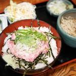 そば処 まるか家 - ねぎとろ丼セット¥950