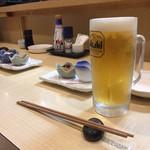 海鮮ダイニング すえの - 生ビール