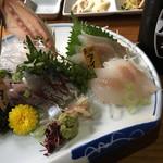漁師小屋 - アジとアイナメ