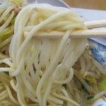 名代井手ちゃんぽん - ちゃんぽんの麺