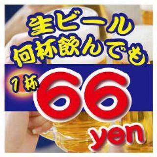 大大大感謝祭生ビール66円