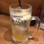 名古屋味噌 どて子 - 塩レモンサワー430円