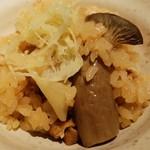 生姜屋 黒兵衛 - シメジと生姜の炊き込みご飯
