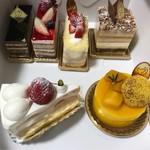 ゴトウ洋菓子店 - オペラ、フランボワジェ、フロッケン、マルジョレーヌ、ショートケーキ、マンゴーのケーキ